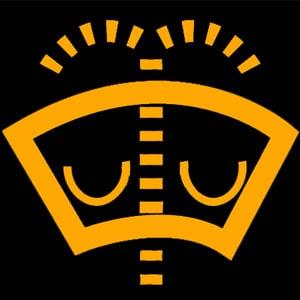 Cảnh báo nước rửa kính: cho biết chủ xe cần đổ đầy nước rửa kính chắn gió.